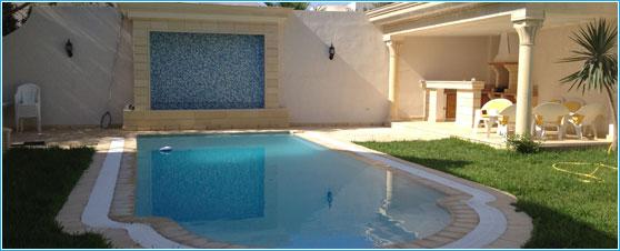 R alisation et installation piscine men tunisie for Construction piscine tunisie